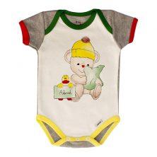 بادی آستین کوتاه طرح اردک کوچولو - لباس بچه پسرانه