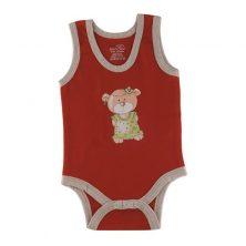 بادی رکابی دخترانه طرح خرس تدی - لباس بچه دخترانه