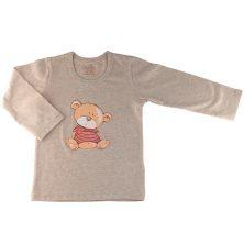 تیشرت آستین بلند پسرانه طرح خرس تدی