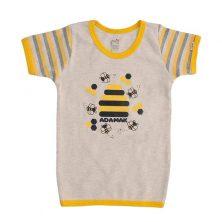 تیشرت آستین کوتاه یقه گرد طرح زنبور