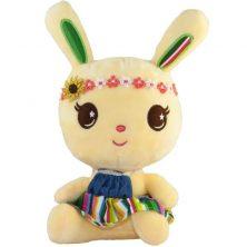 عروسک خرگوش هدبند دار زرد