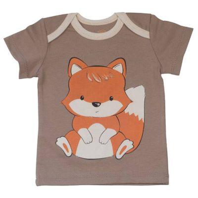 پیراهن آستین کوتاه طرح روباه