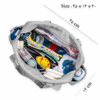 سایز کیف لوازم کودک کوکالو طرح دکمه دار