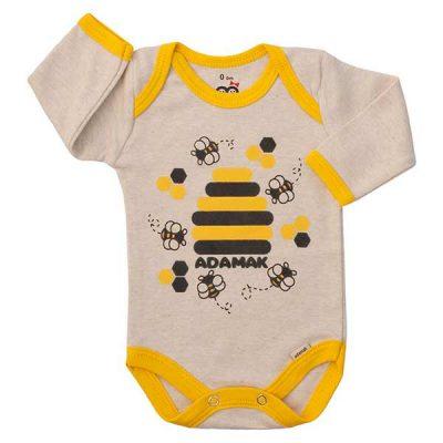 بادی پسرانه آستین بلند آدمک طرح زنبور