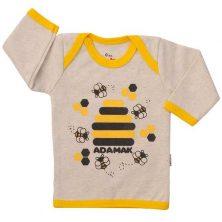 تیشرت آستین بلند طرح زنبور-تیشرت بچه