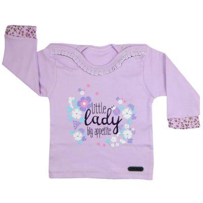 پیراهن آستین بلند طرح little lady - لباس بچه دخترانه