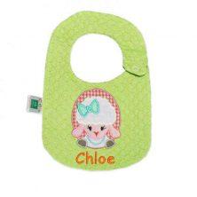 پیشبند گلدوزی کوکالو طرح chloe سایز کوچک - پیش بند نوزاد