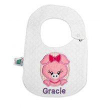 پیشبند گلدوزی کوکالو طرح gracie سایز کوچک - پیش بند نوزاد