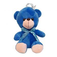 عروسک خرس پاپيونی آبی