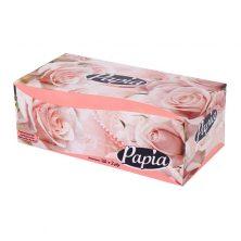 دستمال کاغذی پاپیا 150 برگ گل رز