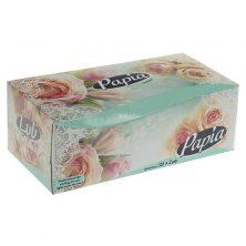 دستمال کاغذی 2 لایه 150 برگ پاپیا گل رز سبز